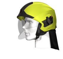přilba HEROS TITAN Rosenbauer Basic signální žlutá luminiscenční, čirý štít