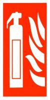 samolepka HASICÍ PŘÍSTROJ, piktogram, 16×8 cm