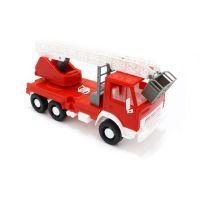 autíčko hasičské se žebříkem 25 cm - hračka