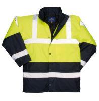 kabát Two Tone - nepromokavá reflexní bunda s nápisem HASIČI na zádech