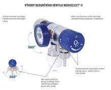 ventil redukční průtokový Mediselect II 25l