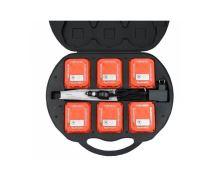 set 6ks LED modulů - puků v kufříku inteligentní synchronizace - oranžová