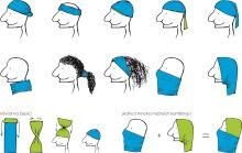 multifunkční šátek - nákrčník