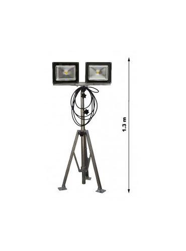 stativ - LED reflektor 2x50W OS komplet DUO