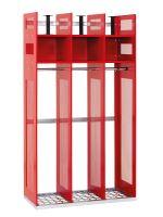 šatní skříň kovová pro hasiče IPS 1780 x 1000 x 500mm bez nožiček a levé boční příčky