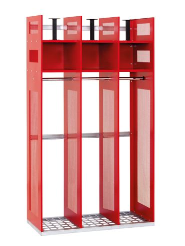 šatní skříň kovová pro hasiče IPS 1780 x 1000 x 500mm bez nožiček