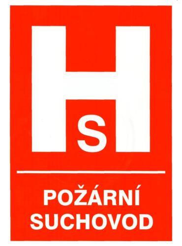 tabulka POŽÁRNÍ SUCHOVOD, 29,7×21 cm