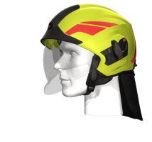 přilba HEROS TITAN Rosenbauer signální žlutá luminiscenční, čirý štít + samolepka
