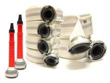 set hadicový PH 4xC52-10m, 2xB75-10m a 2ks plast.proudnice C52