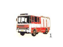 odznak kovový hasičské auto