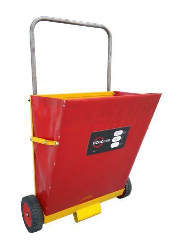 vozík posypový skládací na sorpční drť, SDC03