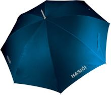deštník modrý s potiskem HASIČI