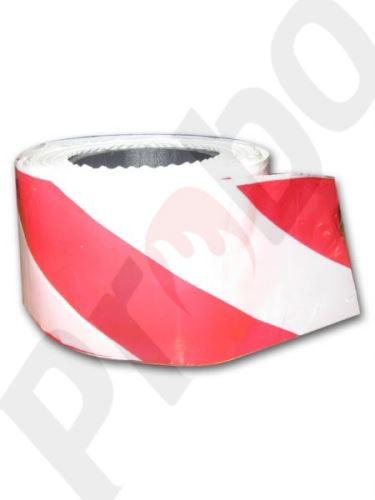 fóliová zábrana červeno-bílé pruhy 500m x 75mm