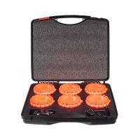 set 6ks LED modulů - puků v kufříku - oranžová