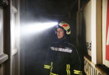 svítilna integrovaná LED pro přilbu Rosenbauer HEROS