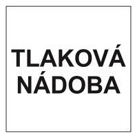 """samolepka """"TLAKOVÁ NÁDOBA"""" nápis, 15x15 cm"""