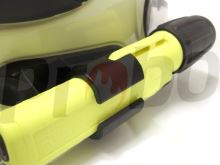 držák svítilny UK4 AA na přilbu Gallet F1 SF a  F1 XF s průřezem