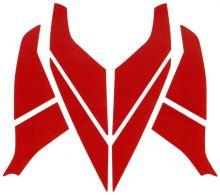 samolepky reflexní červené na přilbu HEROS-TITAN Rosenbauer