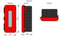 skříňka na hasicí přístroje PVC