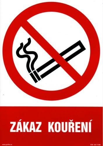 tabulka ZÁKAZ KOUŘENÍ, 29,7×21 cm