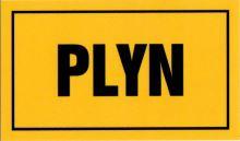 """tabulka """"PLYN"""" 10×6 cm"""