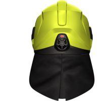 přilba HEROS TITAN FIRE Rosenbauer signální žlutá luminiscenční, čirý štít