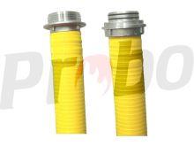 """savice A110 2,5m PROFI EXTRA s """"O"""" kroužky a prodlouženým náběhem  - žlutá"""